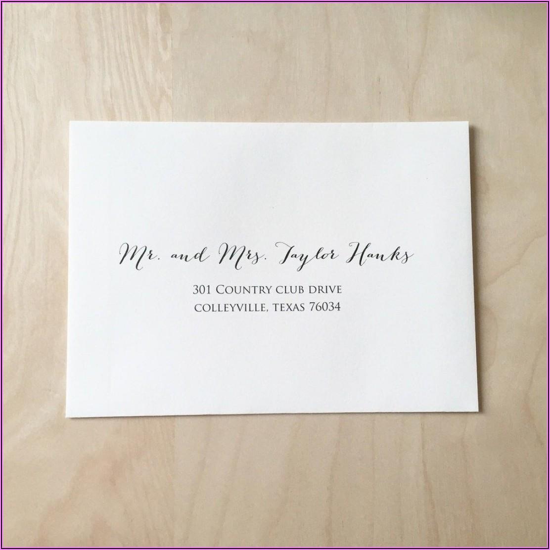 Proper Wedding Invitation Address Wording