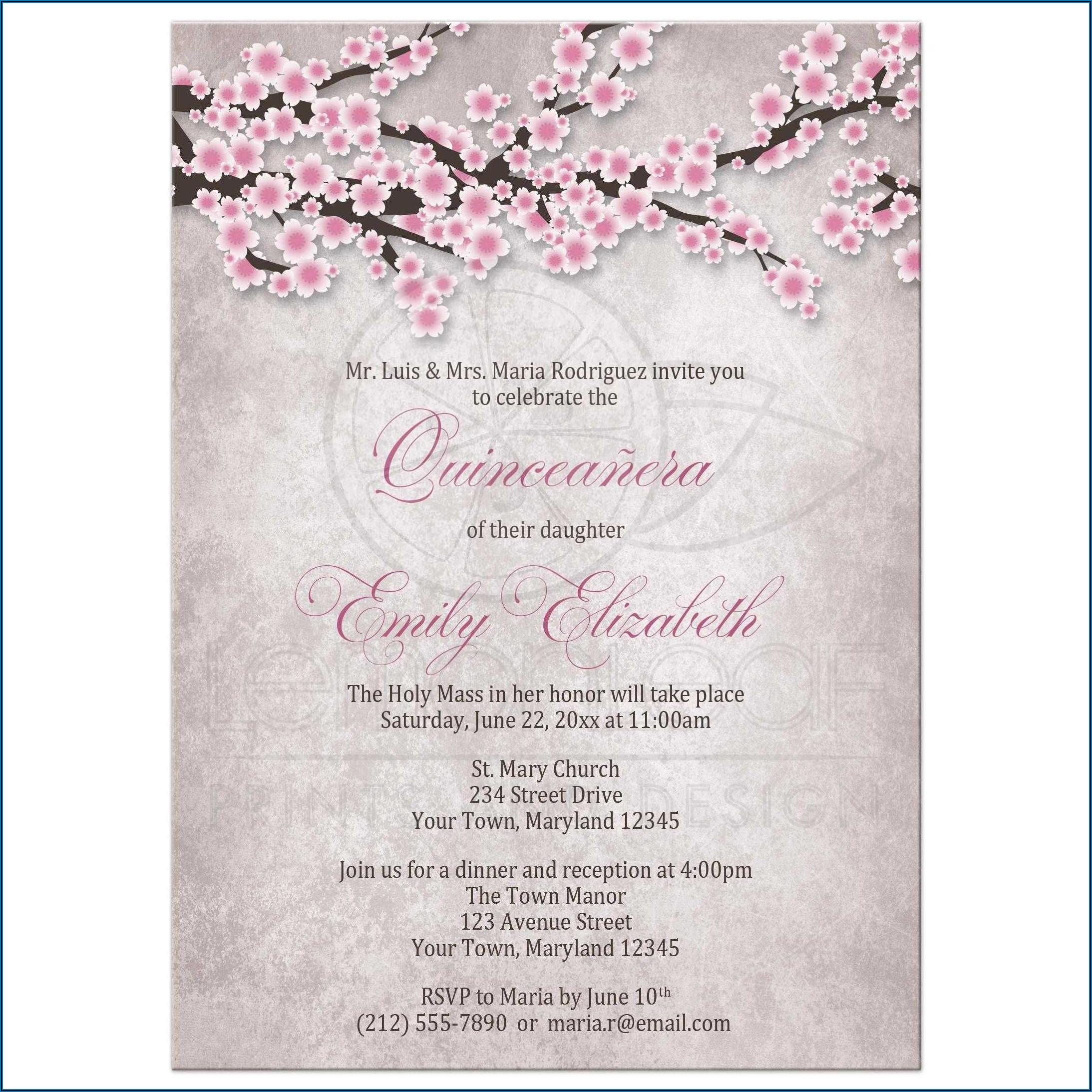 Quinceanera Invitations Templates Free