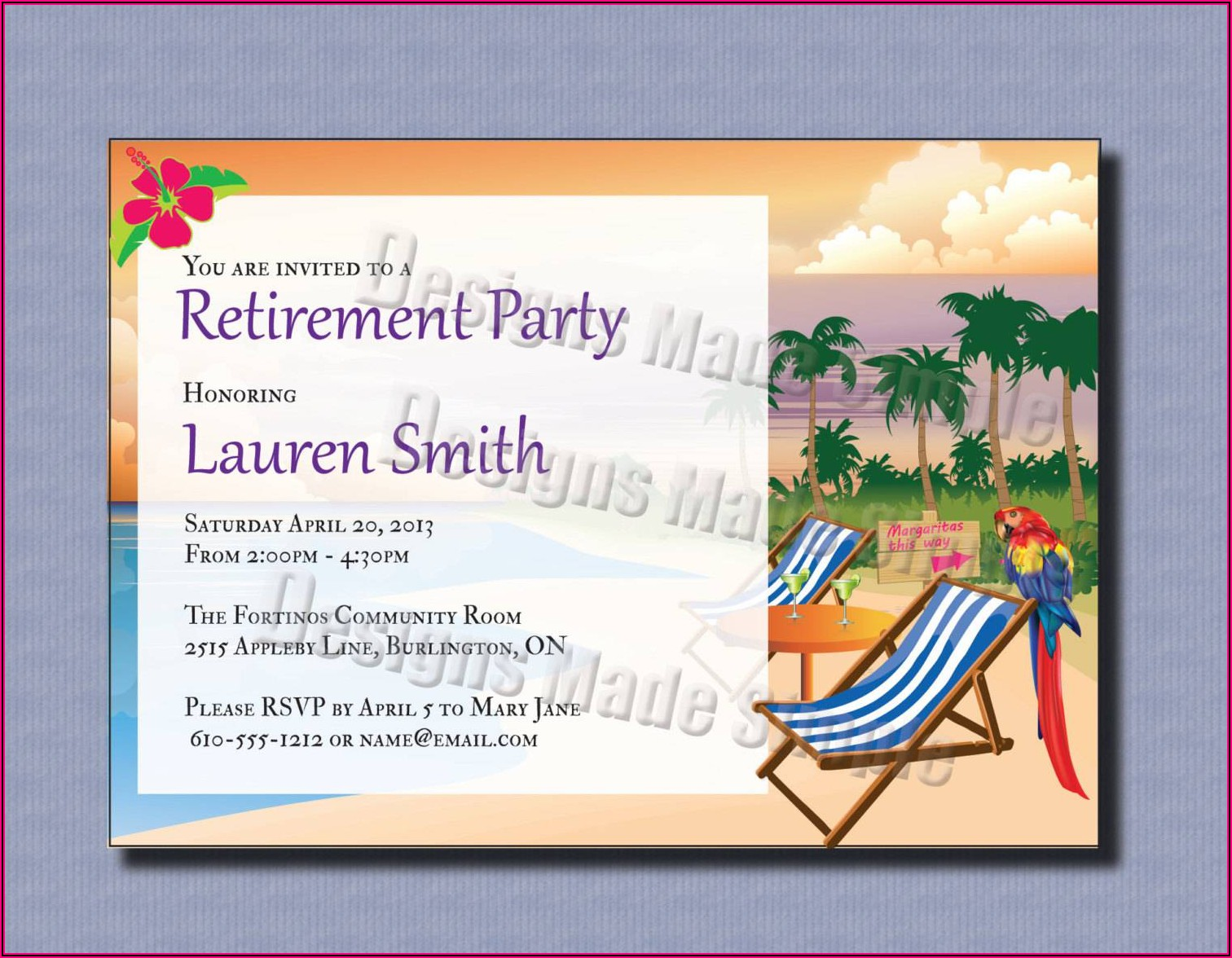 Retirement Invitation Templates Free