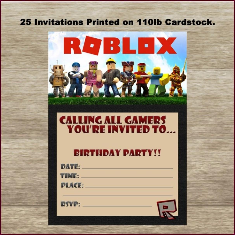 Roblox Birthday Invitation Card Roblox Invitation Template Free