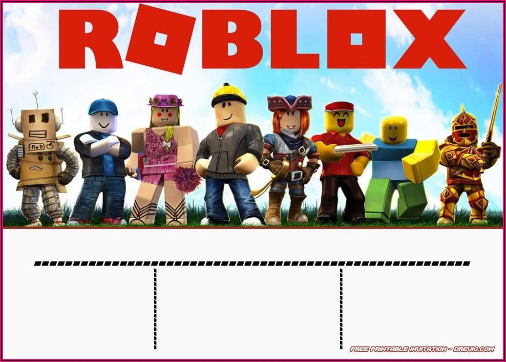 Roblox Birthday Invitation Printable