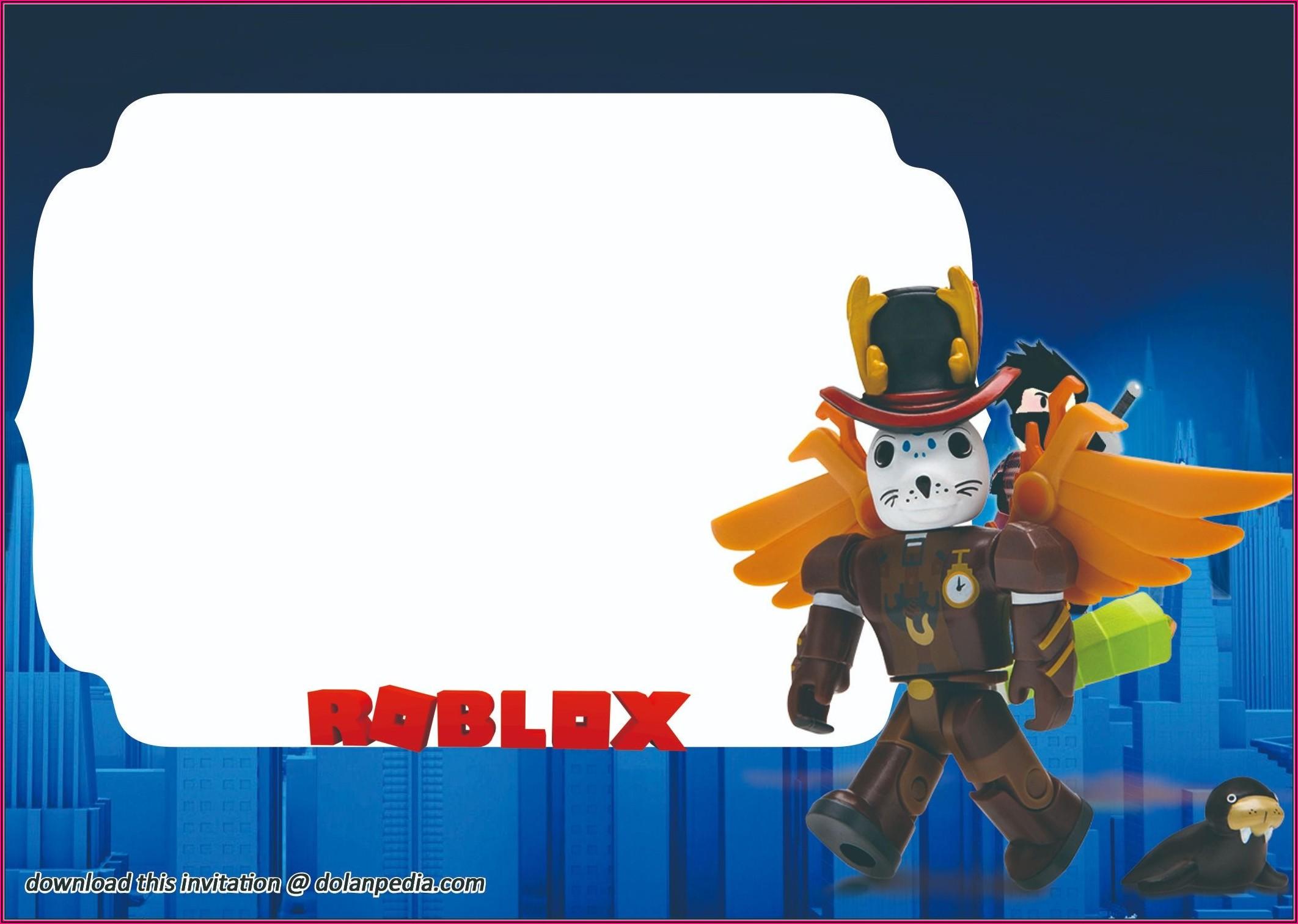 Roblox Birthday Invitation Template Free