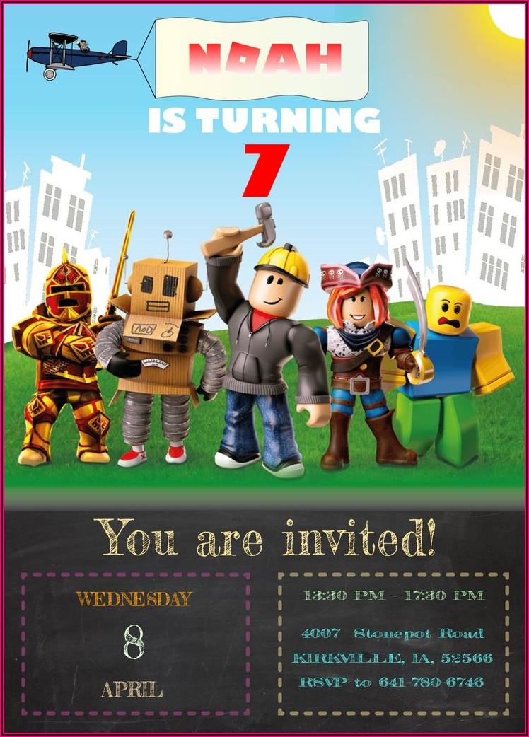 Roblox Birthday Invitations Free Printable
