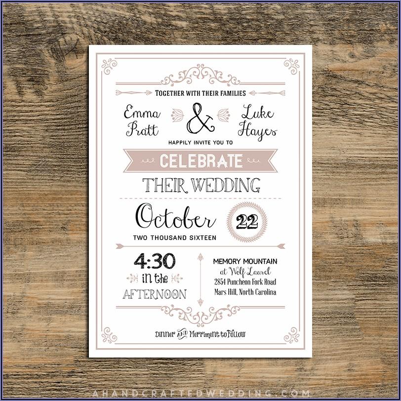 Rustic Wedding Invitations Templates Free