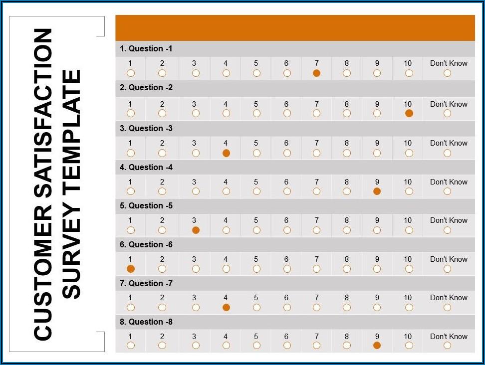 Sample Customer Satisfaction Survey