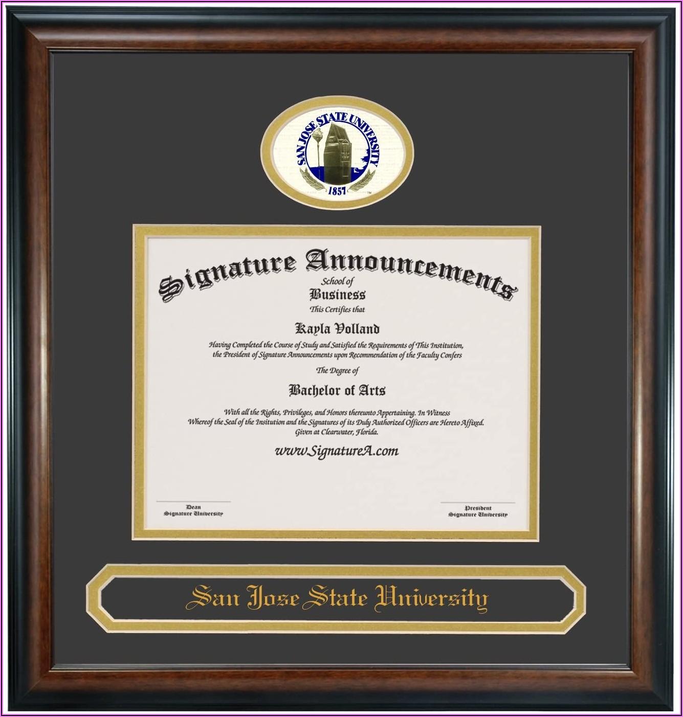 San Jose State University Graduation Announcements