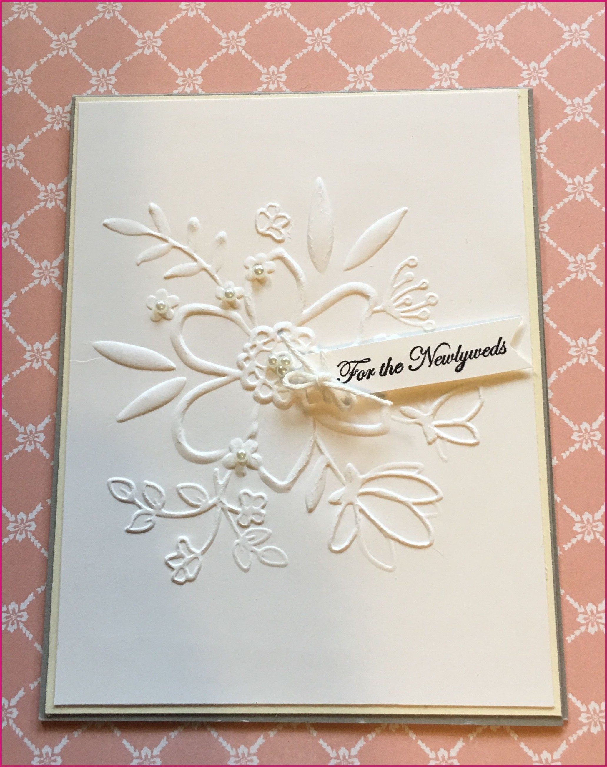 Simple And Elegant Wedding Card
