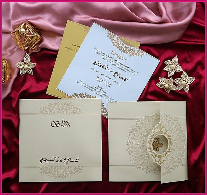 Simple And Elegant Wedding Cards