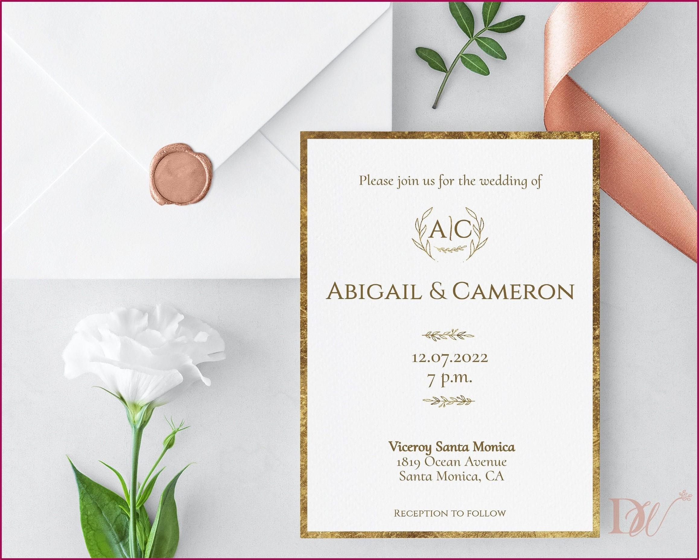Simple And Elegant Wedding Invitations