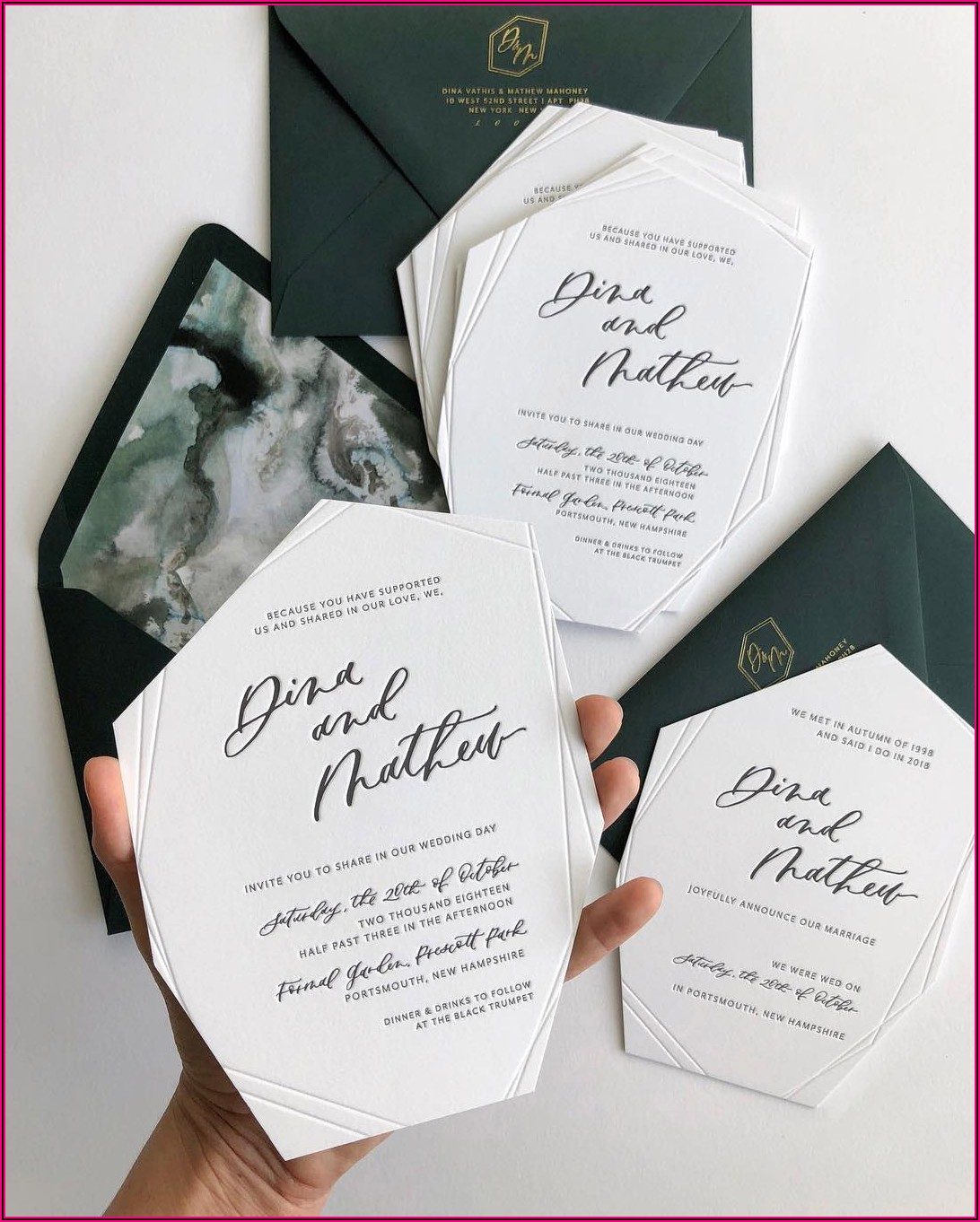 Simple But Classy Wedding Invitations