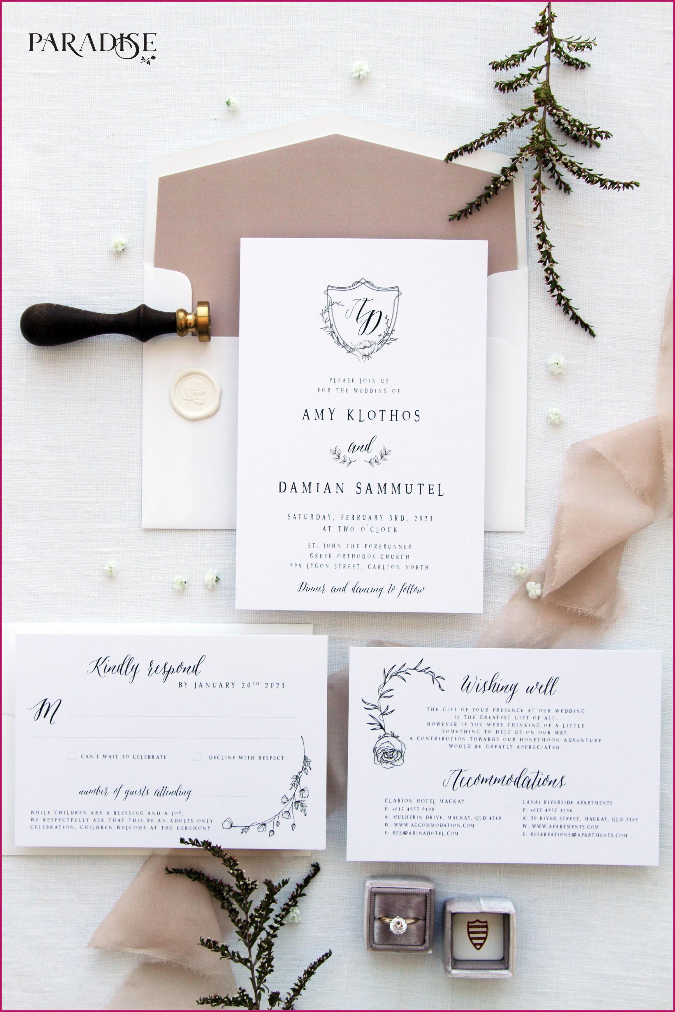 Simple Classy Wedding Invitations
