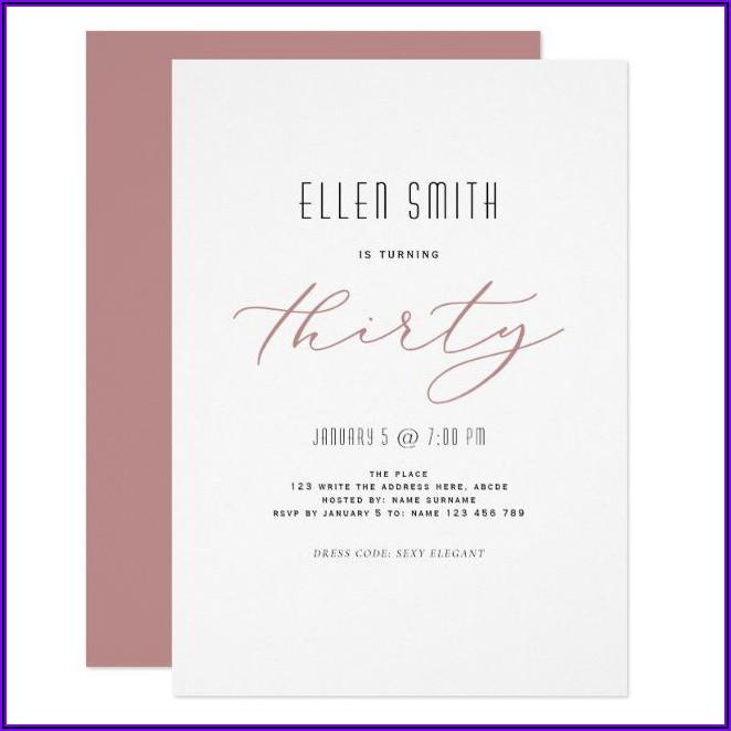 Simple Elegant Birthday Invitations