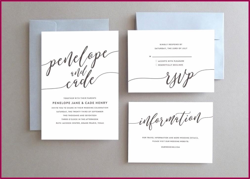 Simple Elegant Wedding Invitations Pinterest