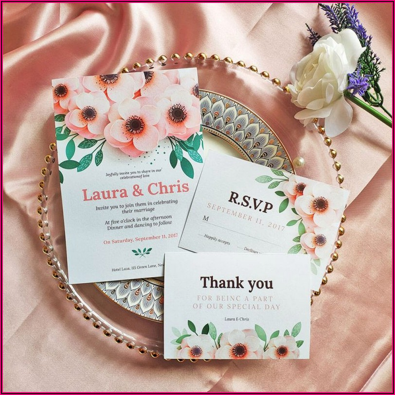 Simple Elegant Wedding Invite