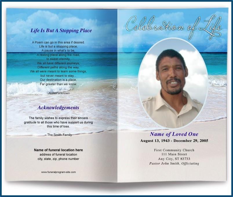 Simple Funeral Program Template Free