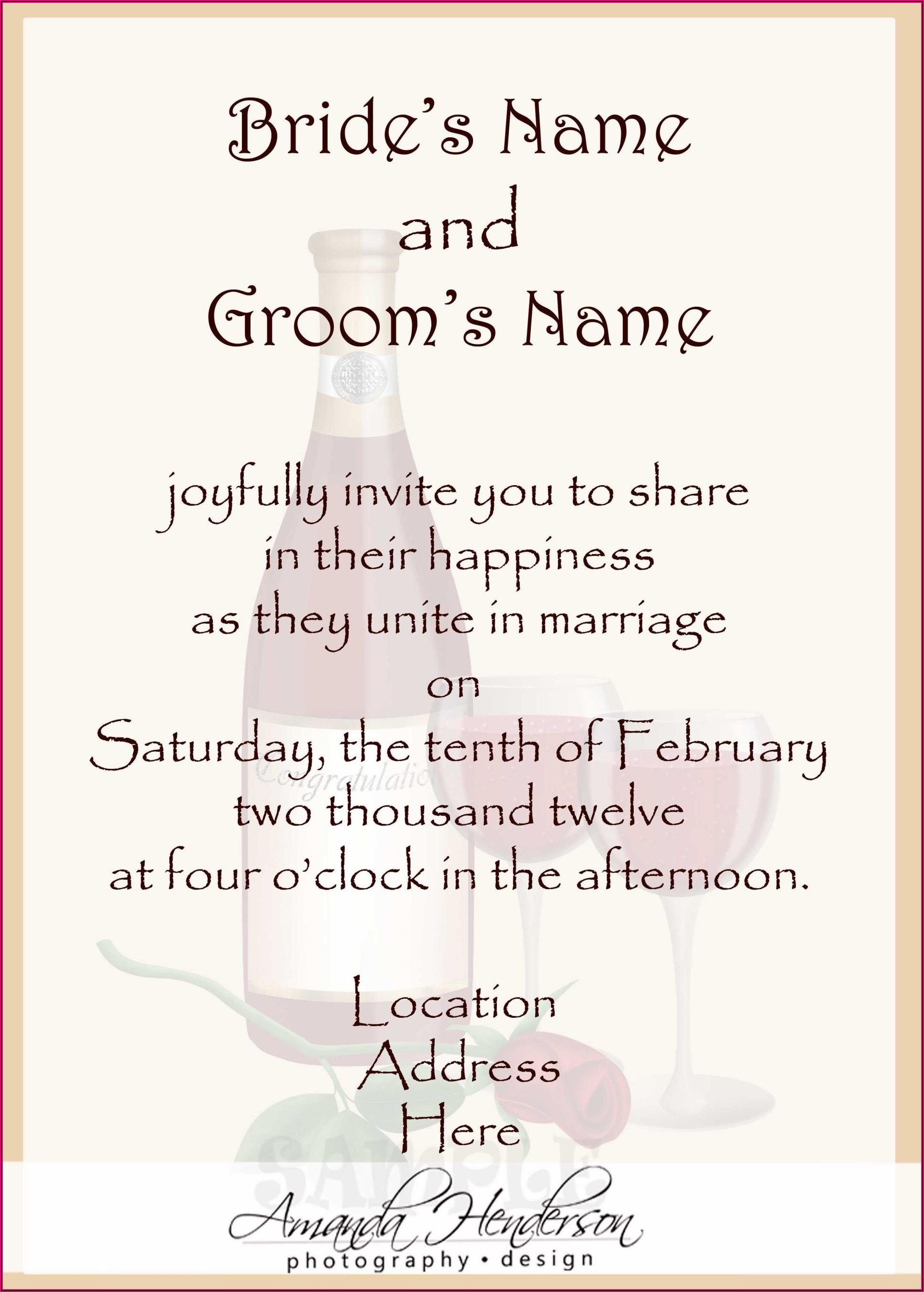 Spanish Wedding Invitation Wording From Bride And Groom