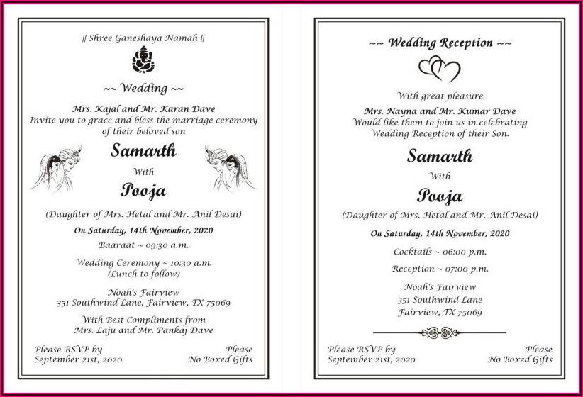 Spanish Wedding Invitations Wording Samples