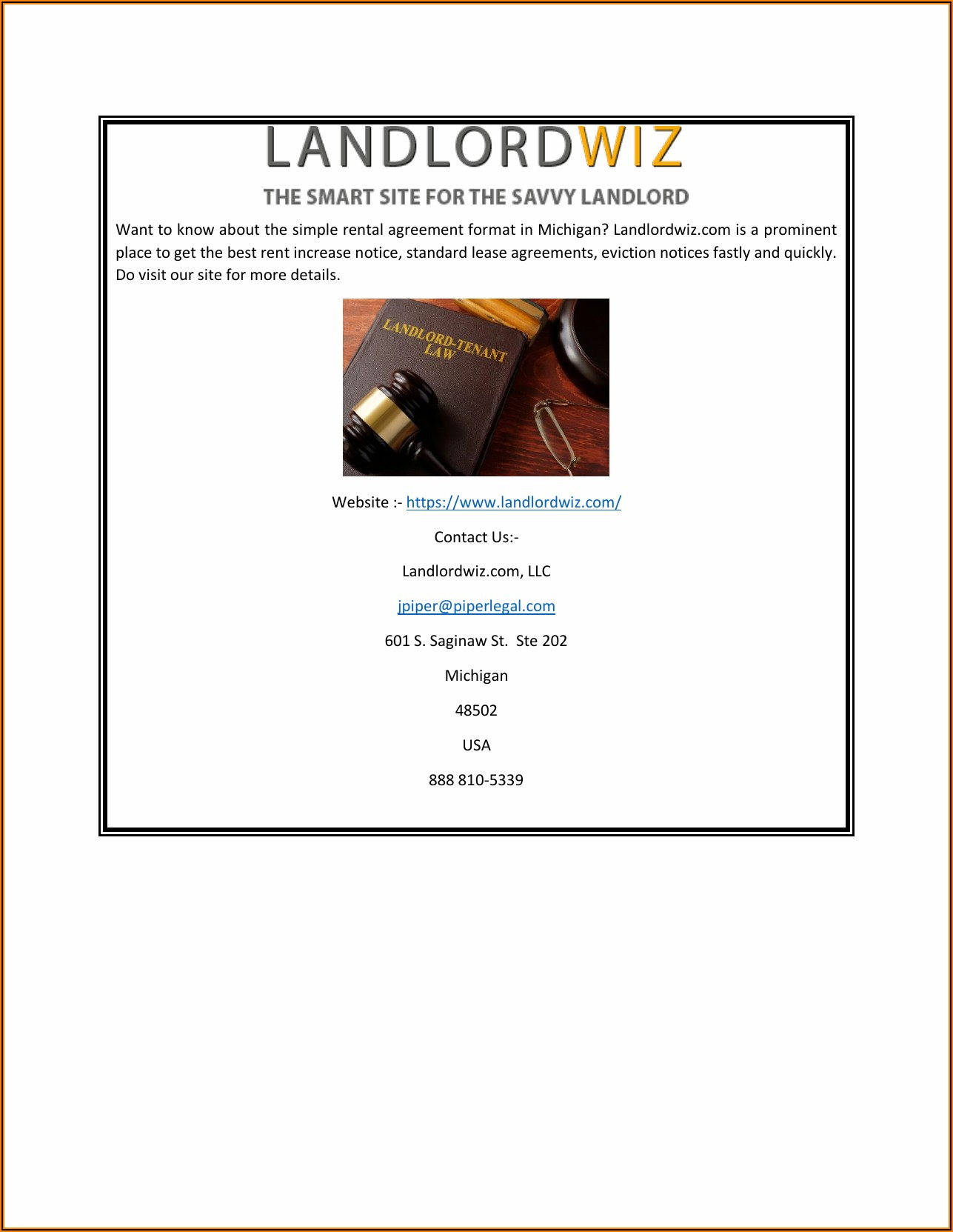 Standard Lease Agreement Format