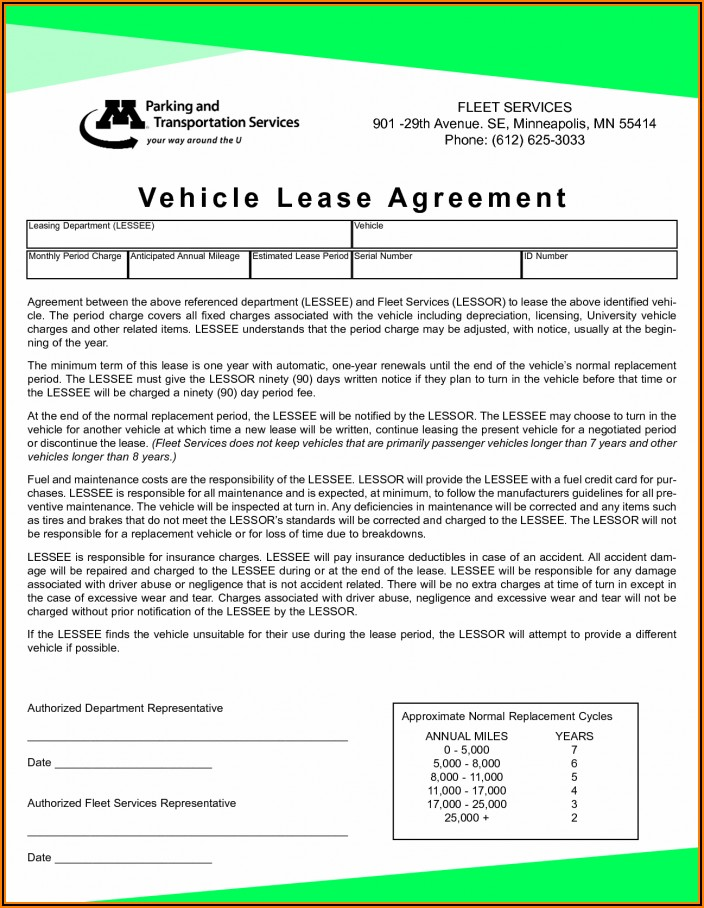 Standard Lease Agreement Template South Africa