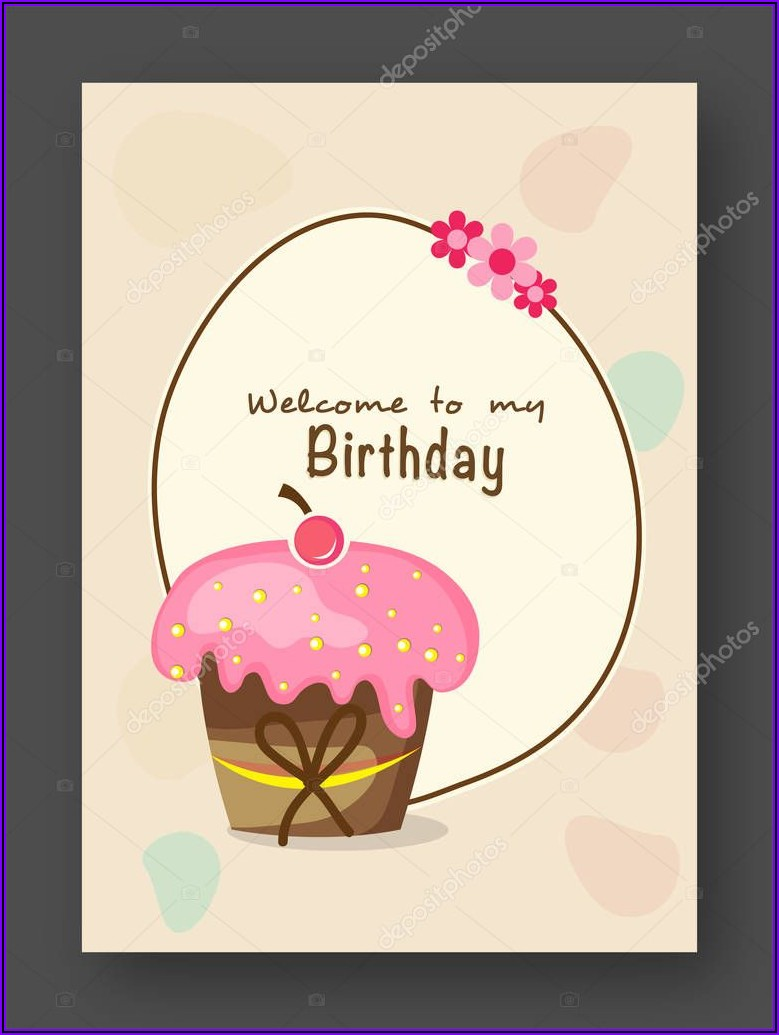 Stylish Birthday Invitation Card