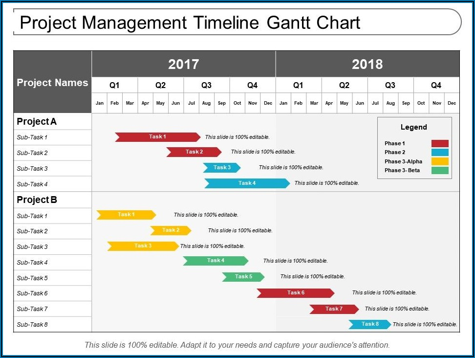 Table Timeline Template For Powerpoint