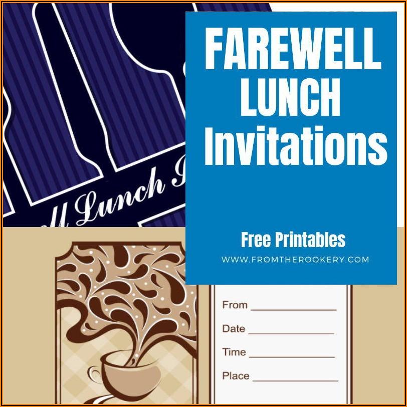 Team Lunch Invitation Template Editable