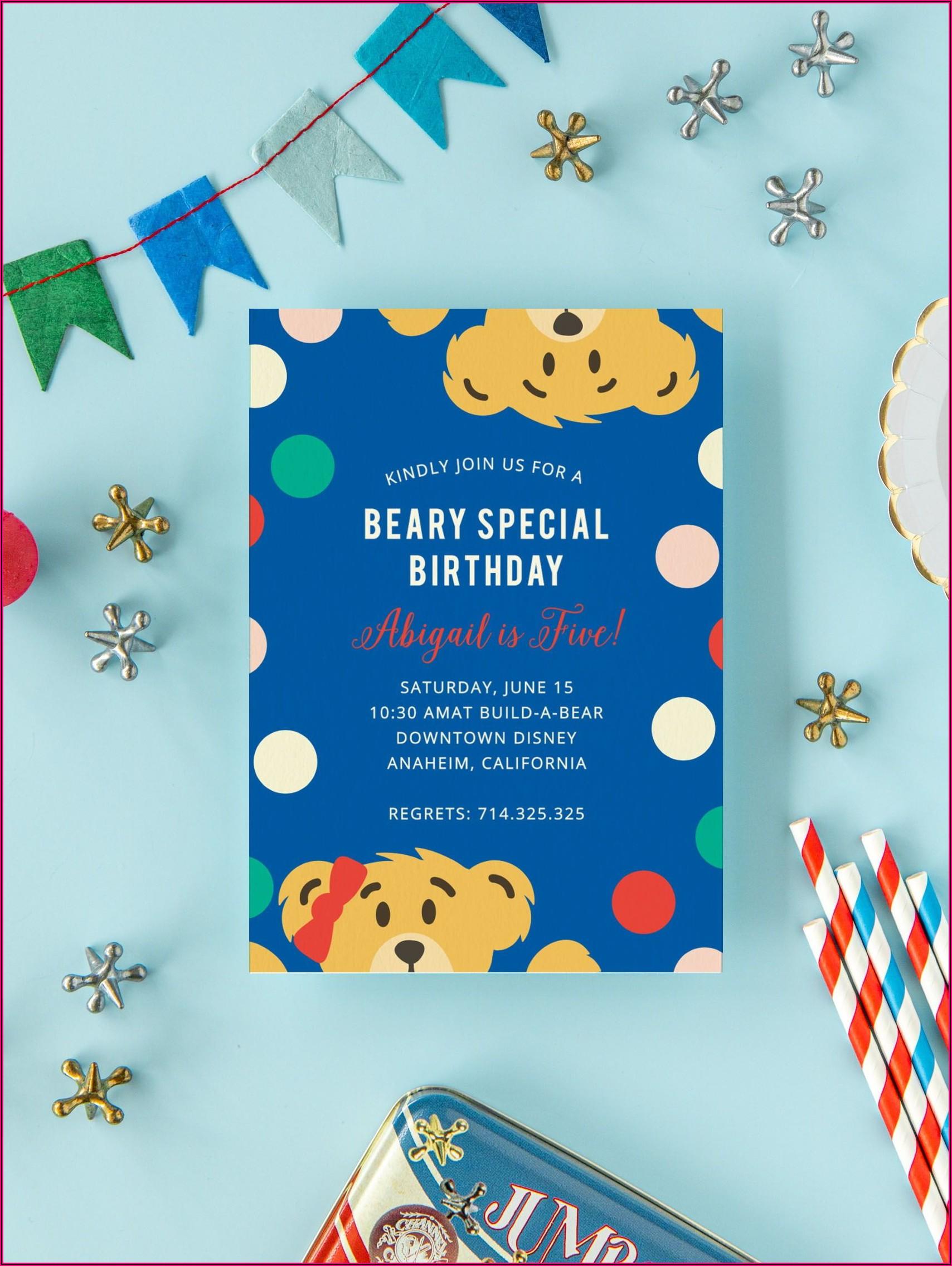 Teddy Bear 1st Birthday Invitations