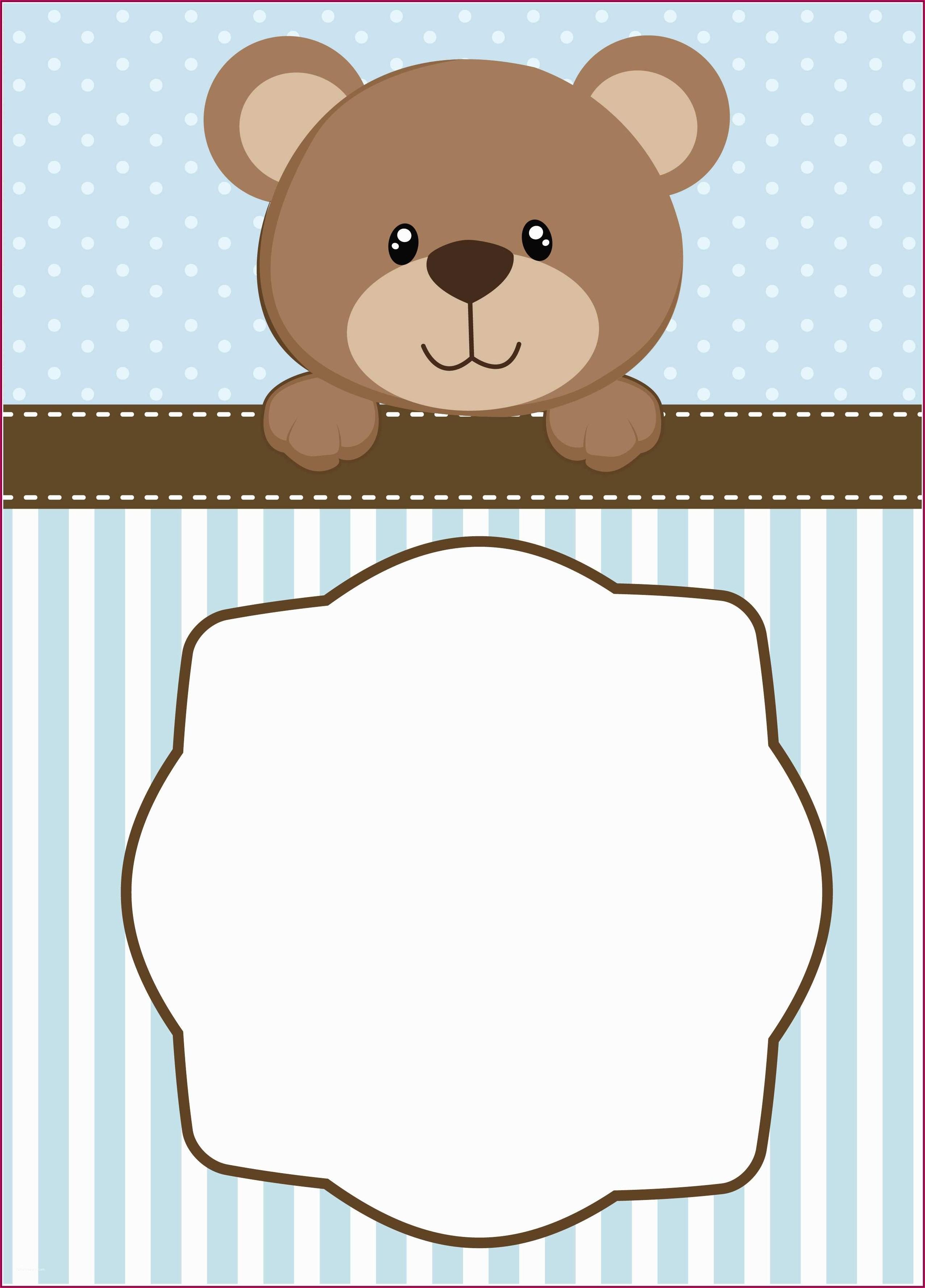 Teddy Bear Baptism Invitations