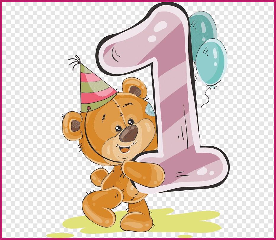 Teddy Bear Birthday Invitation Cards