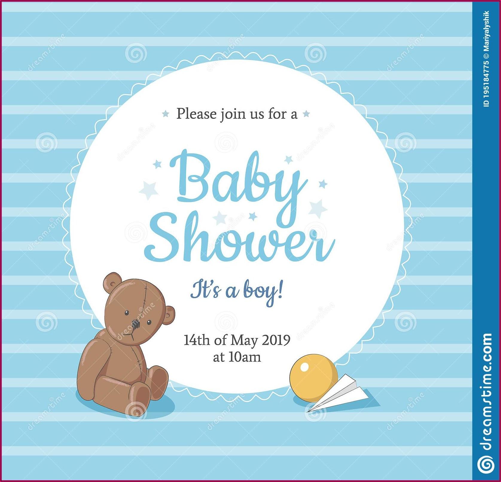 Teddy Bear Invitation Card Template