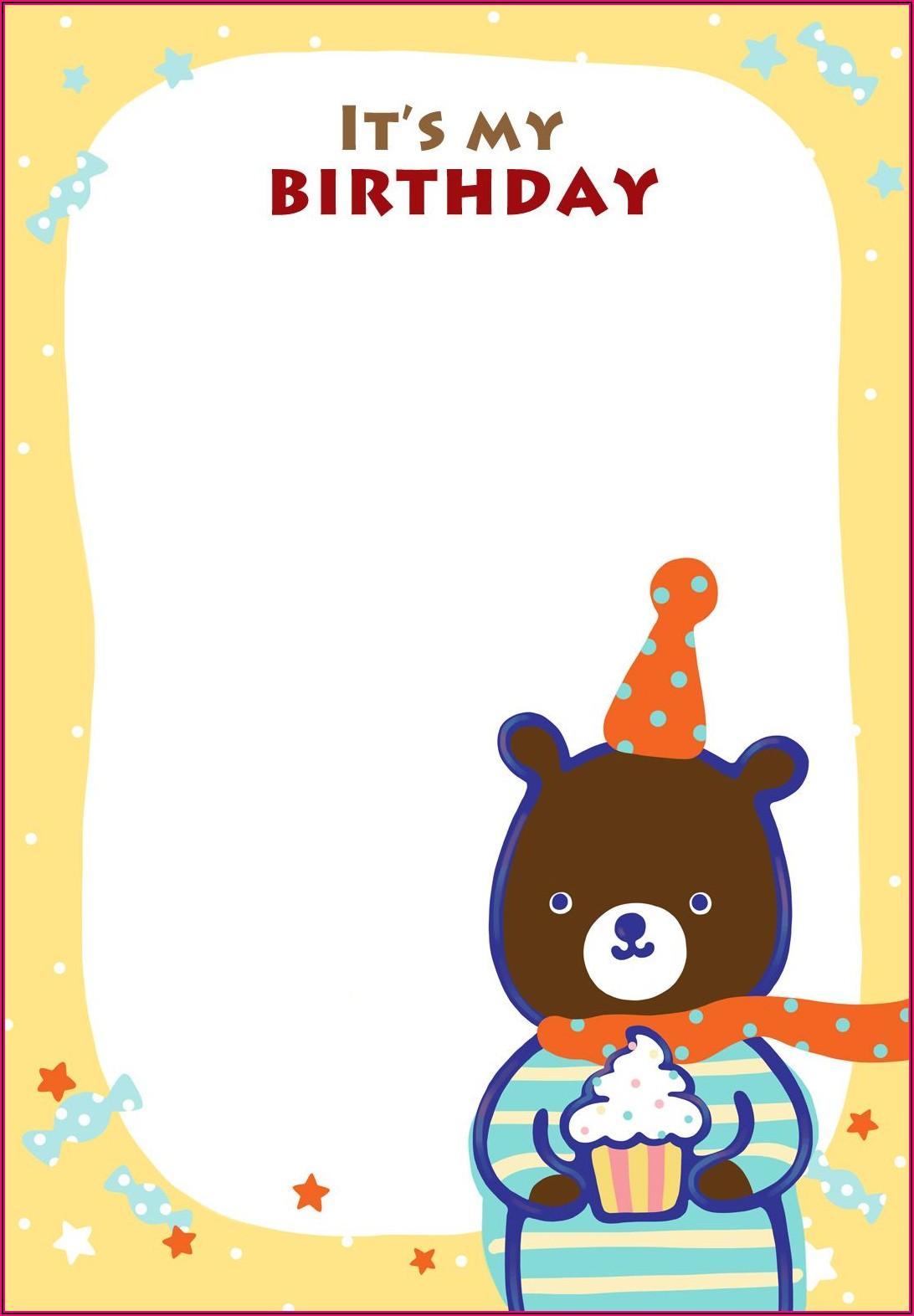 Teddy Bear Invitation Template Free
