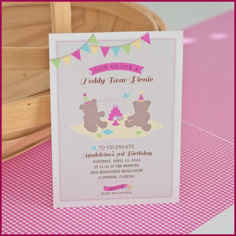 Teddy Bear Picnic Invitation Ks1