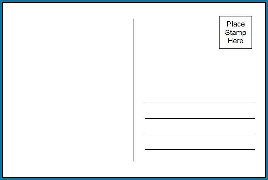Template For 4x6 Postcard