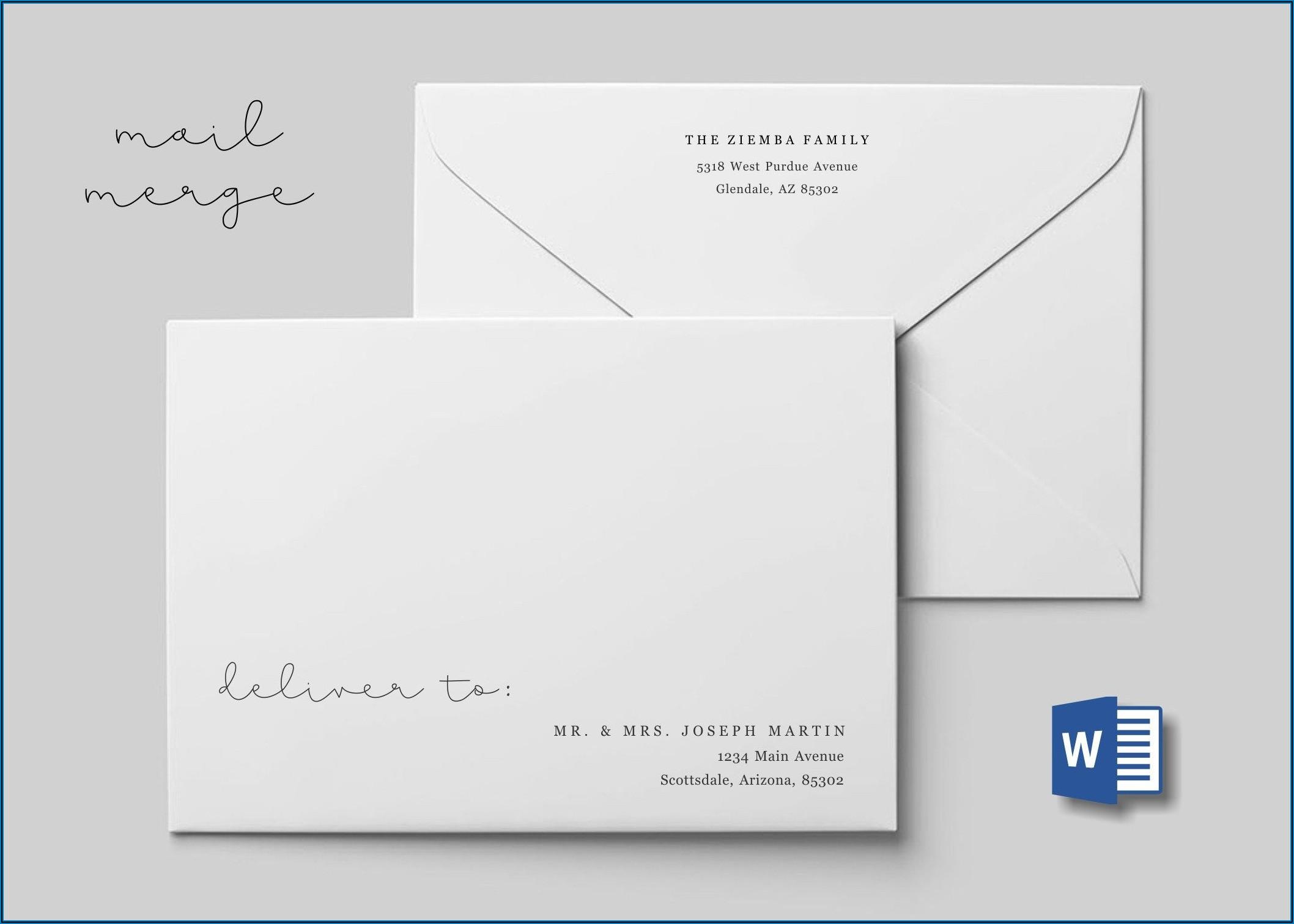 Template For Addressing Wedding Envelopes