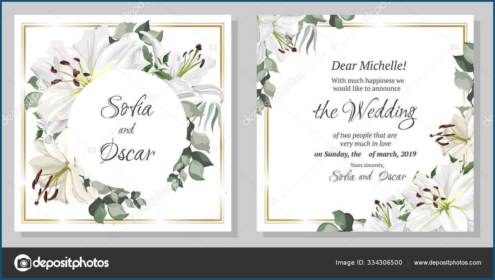 Template For Postcard Invitation
