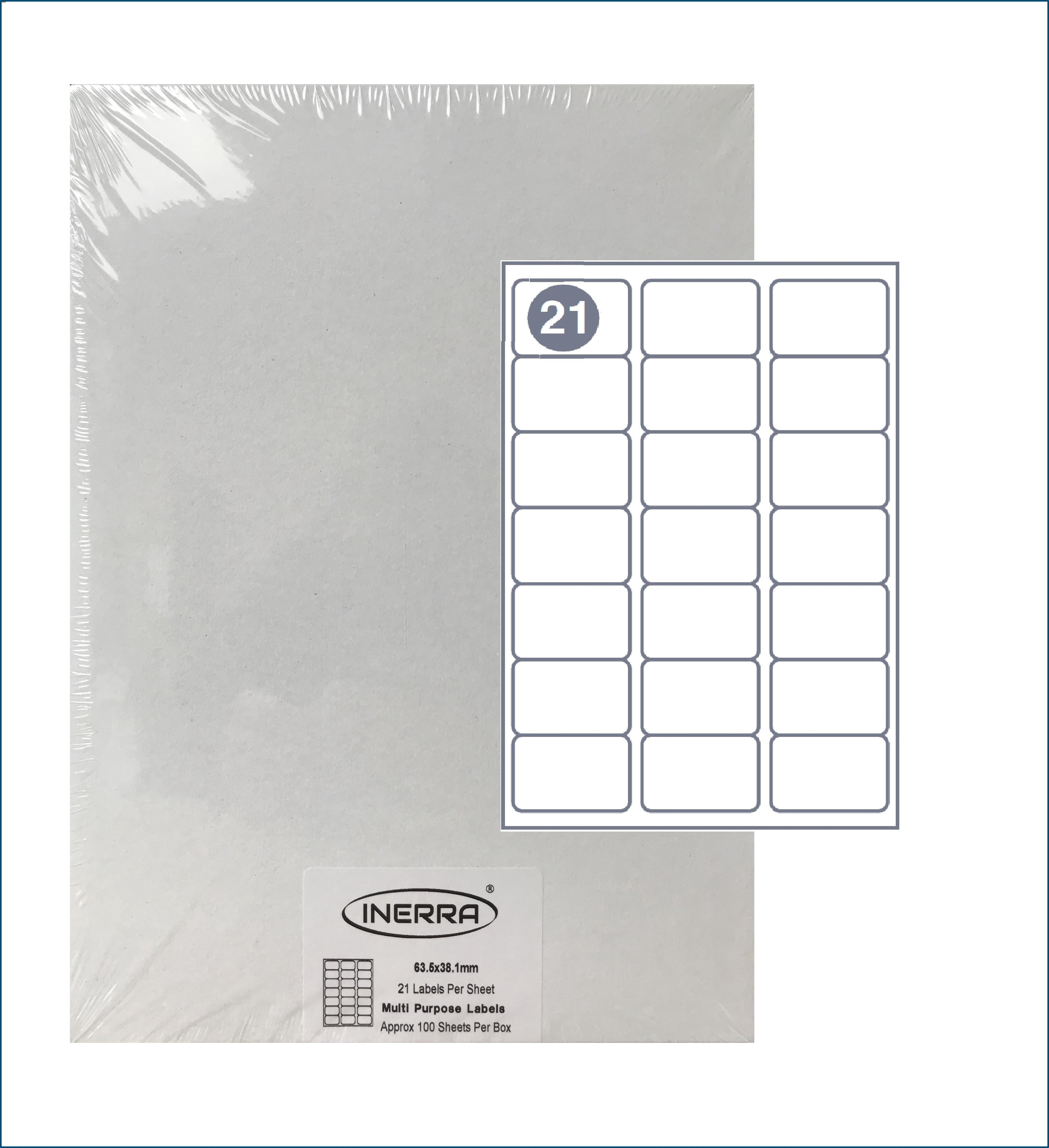 Template For Printing Labels 18 Per Sheet