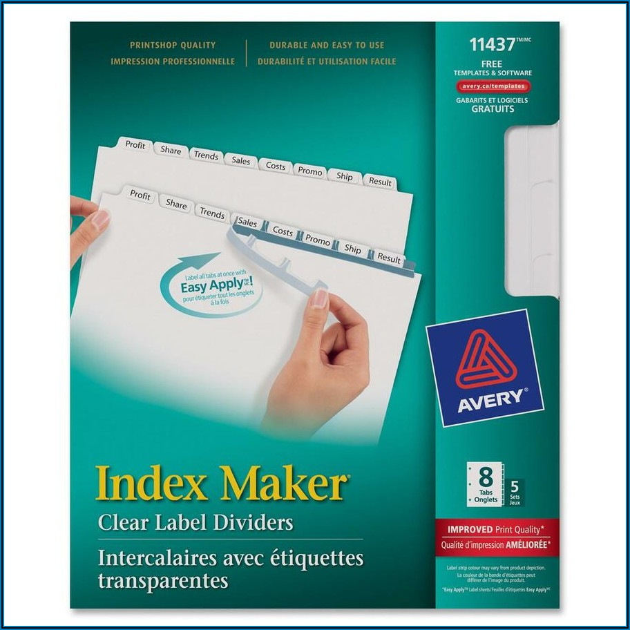 Templates For Avery Labels 11437