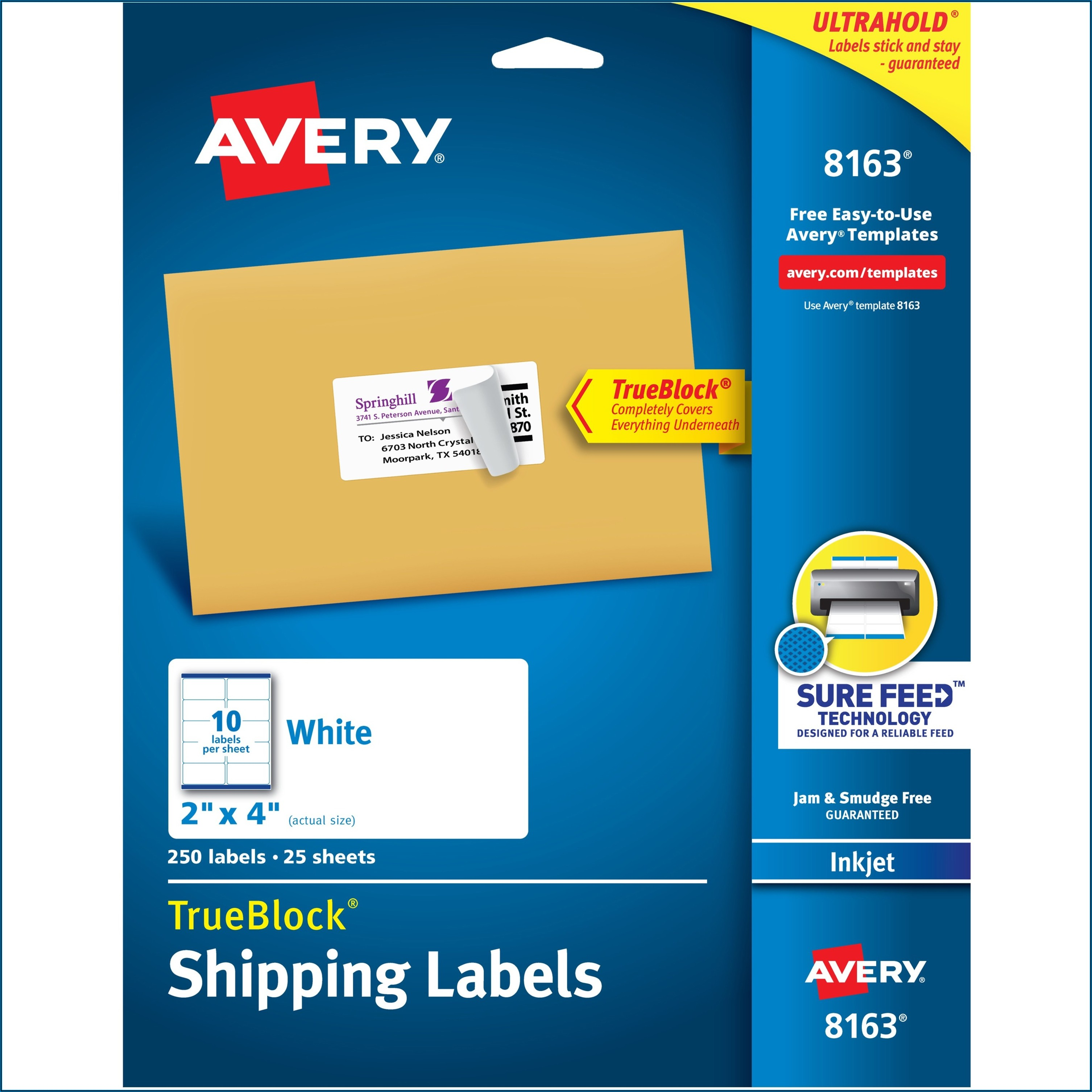 Templates For Avery Labels 5260