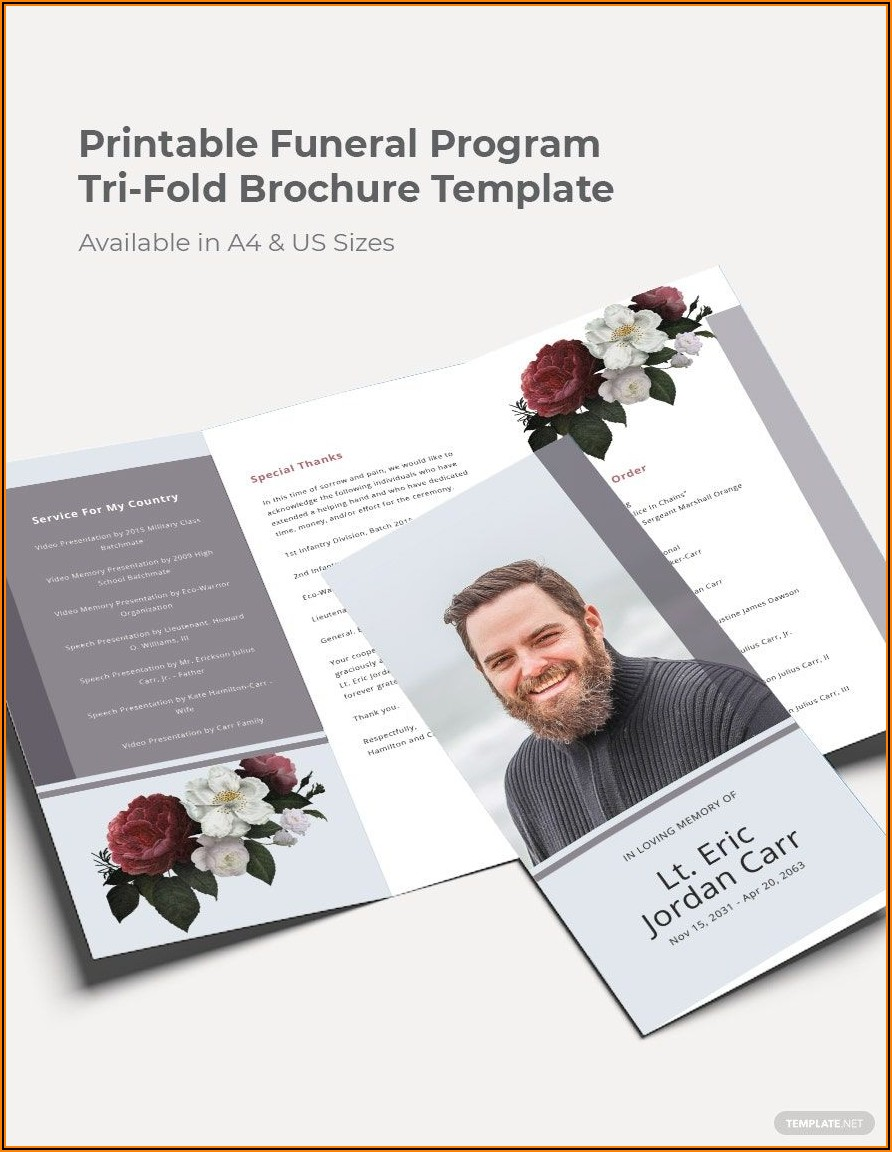 Tri Fold Program Template Free