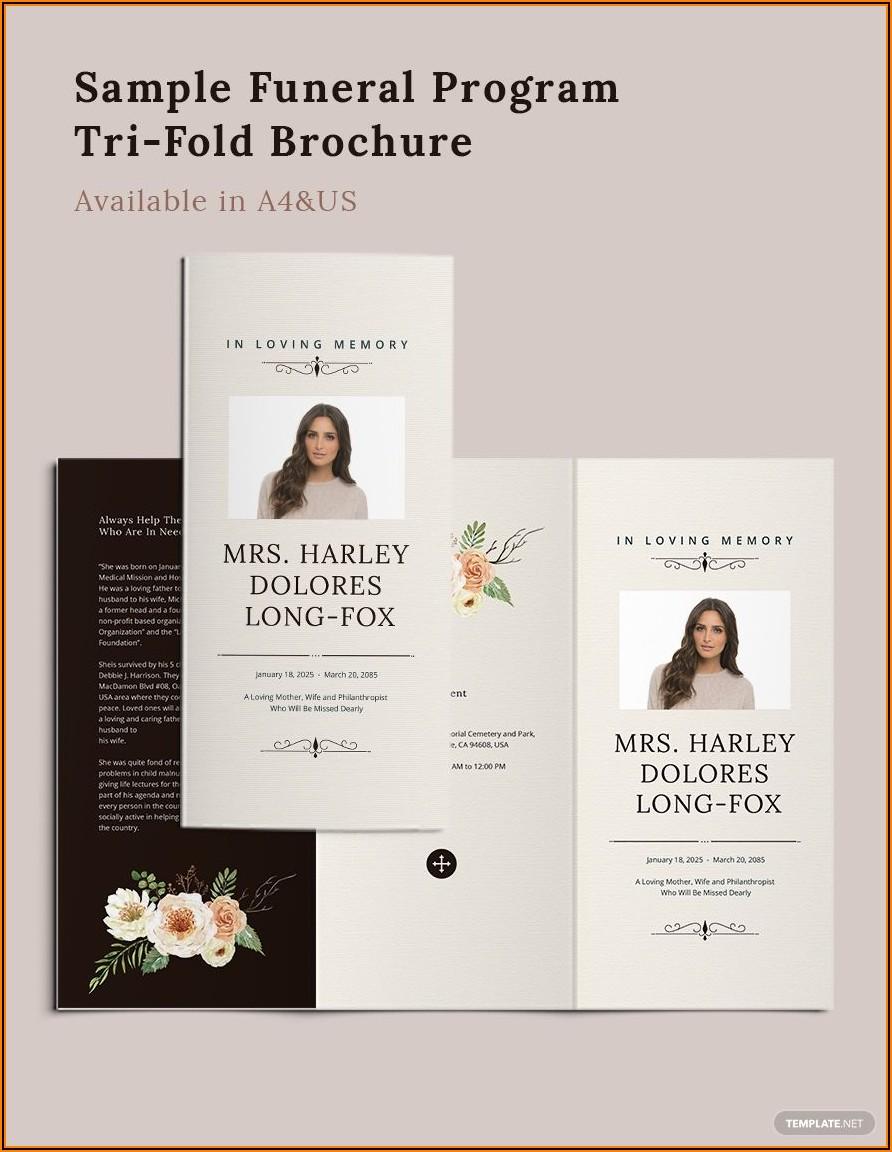 Tri Fold Program Template Word