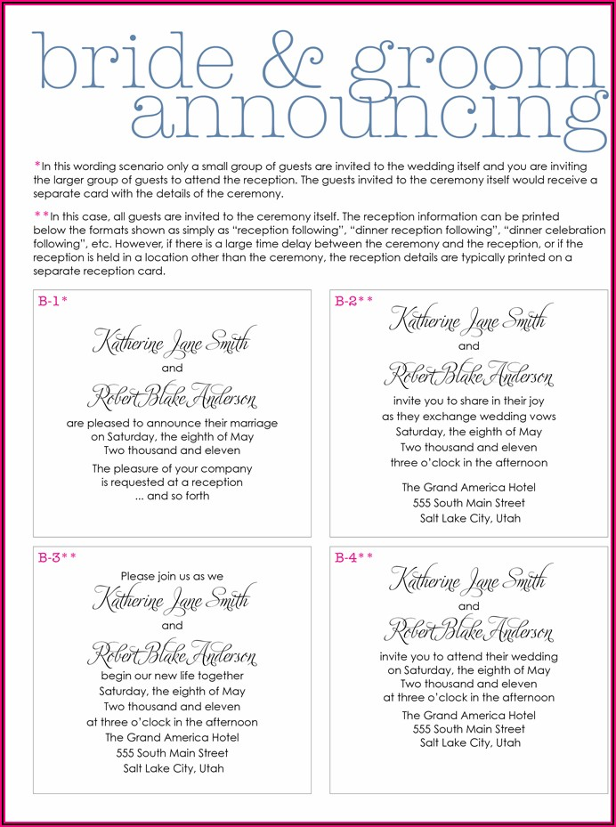 Unique Wedding Invitation Wording Couple Hosting