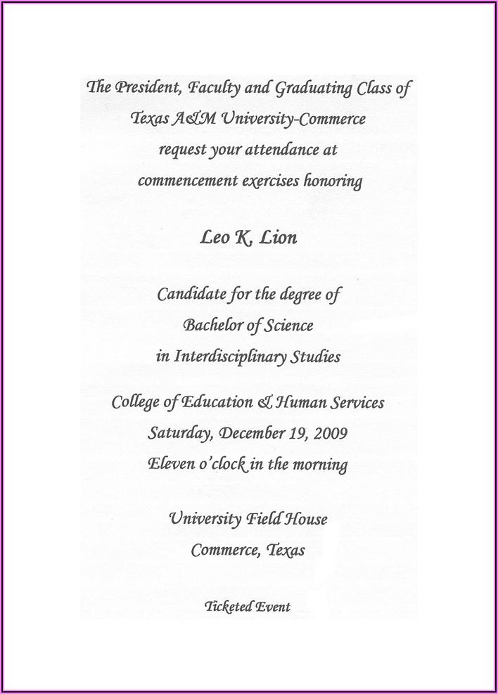 University Of Wyoming Graduation Announcements