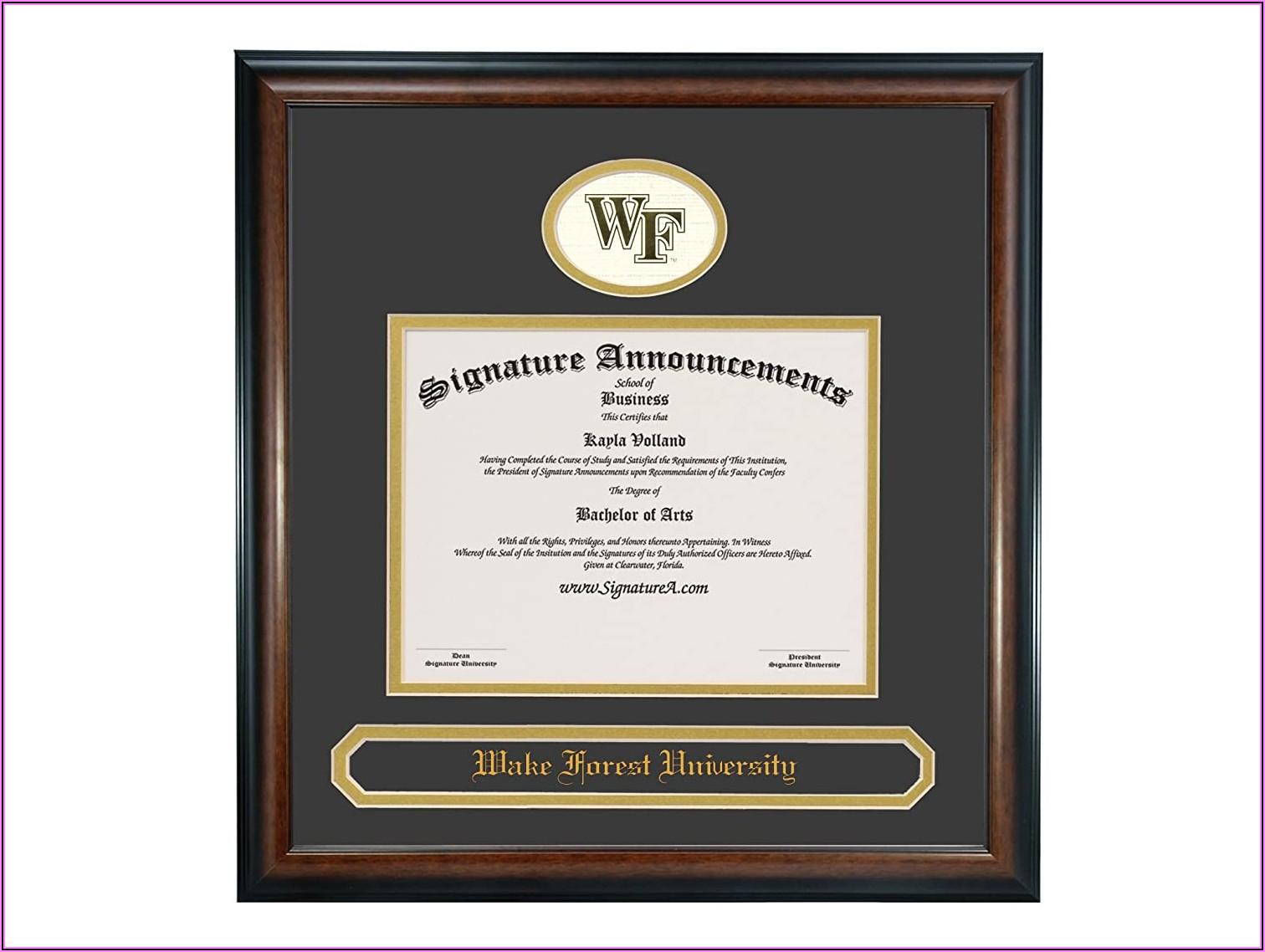 Wake Forest University Graduation Announcements