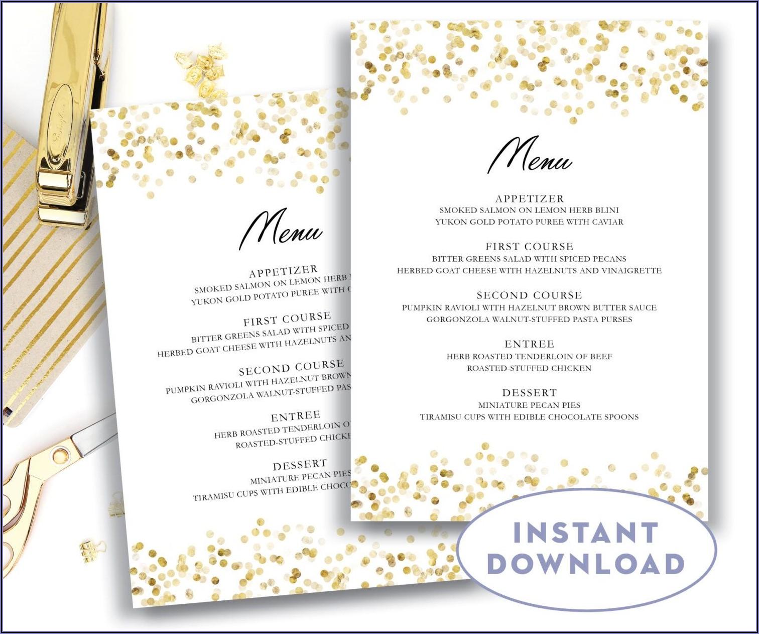 Wedding Drink Menu Templates Microsoft Word