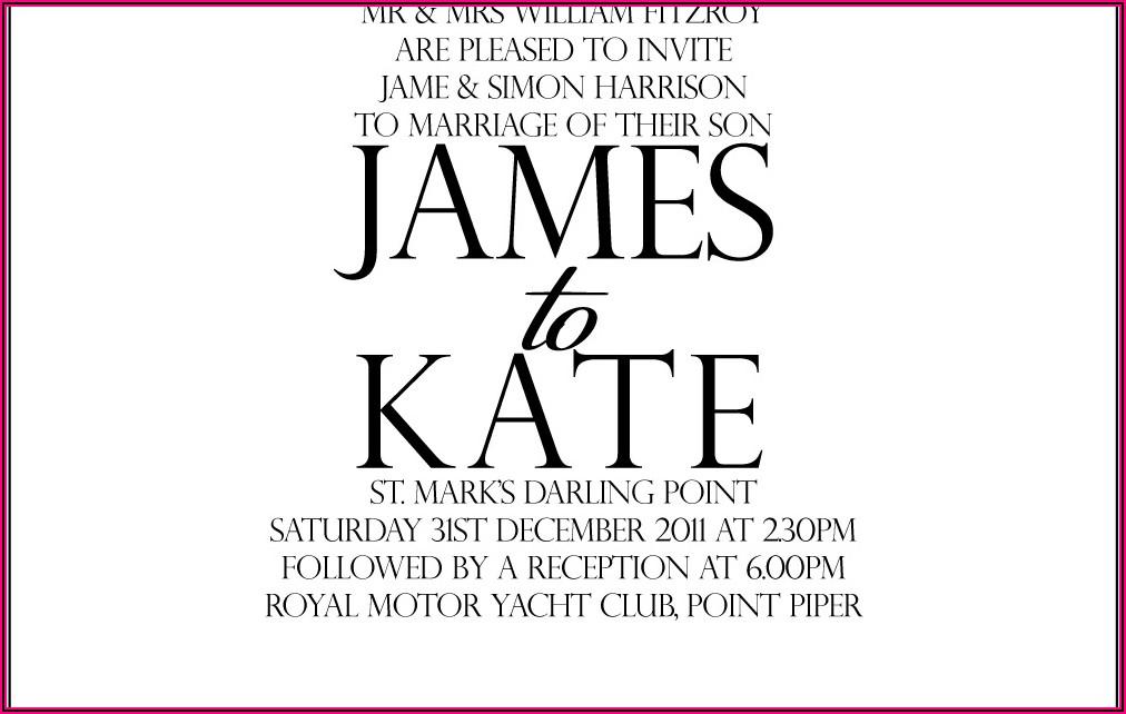 Wedding Invitation Wording Couple Hosting With Parents