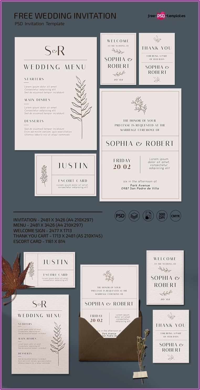 Wedding Invite Template Free