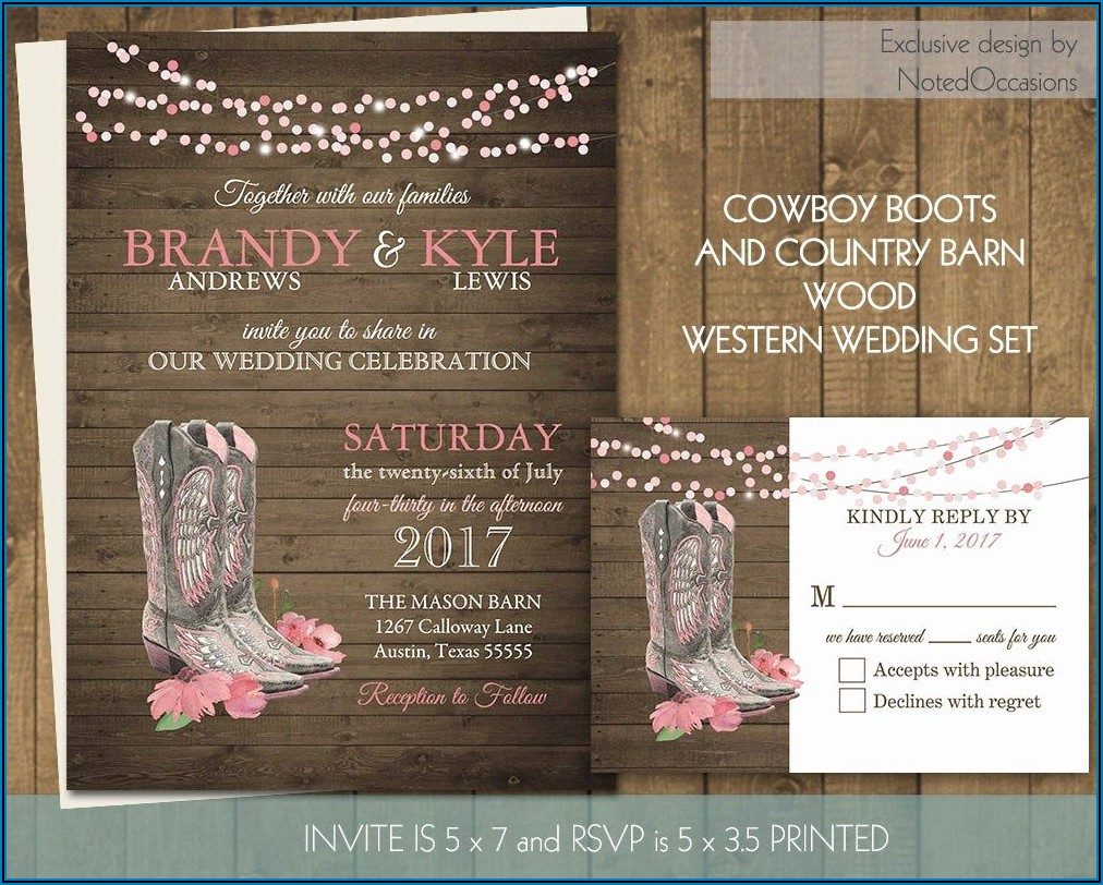 Western Invitation Templates Free