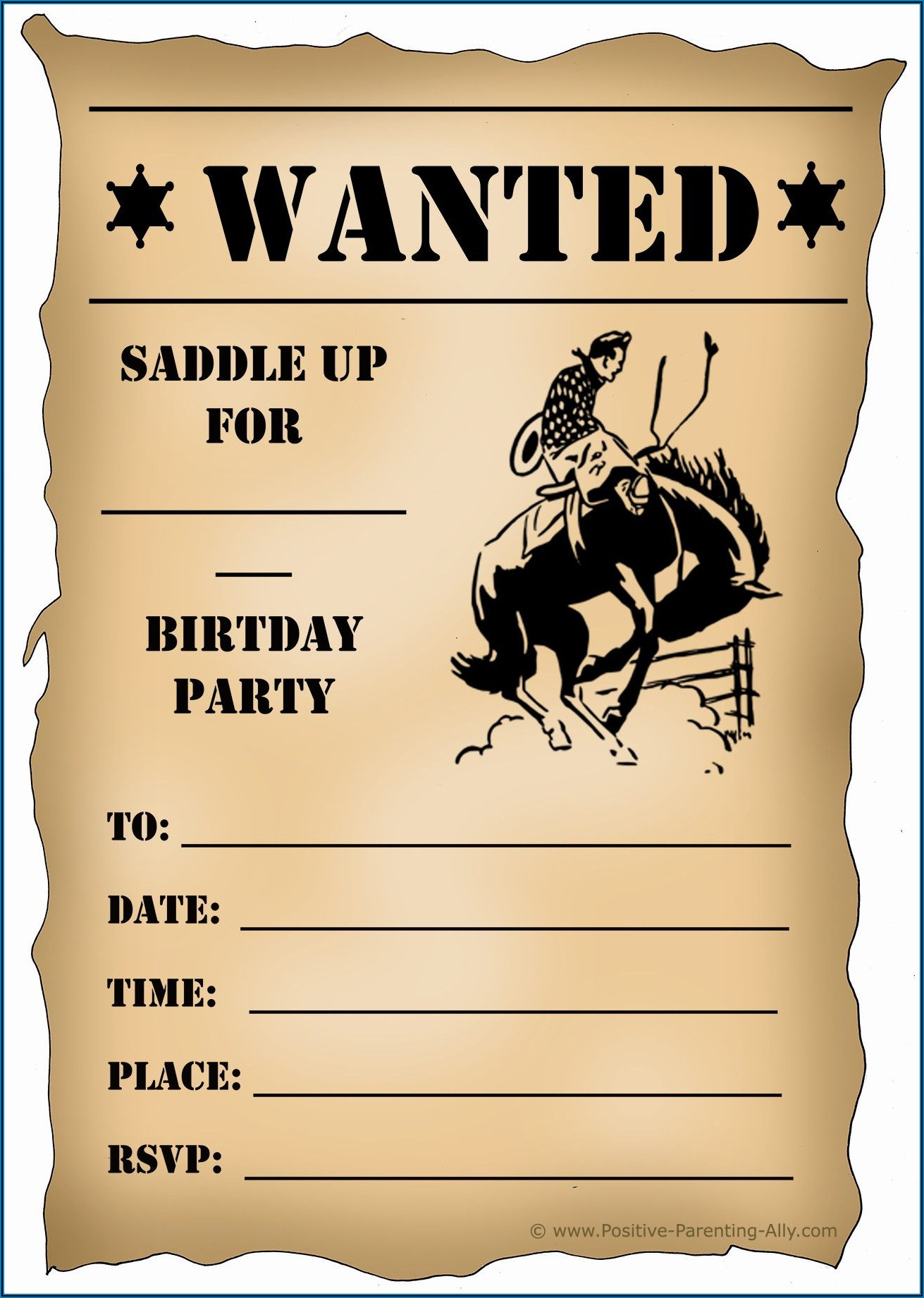 Western Themed Party Invitation Template