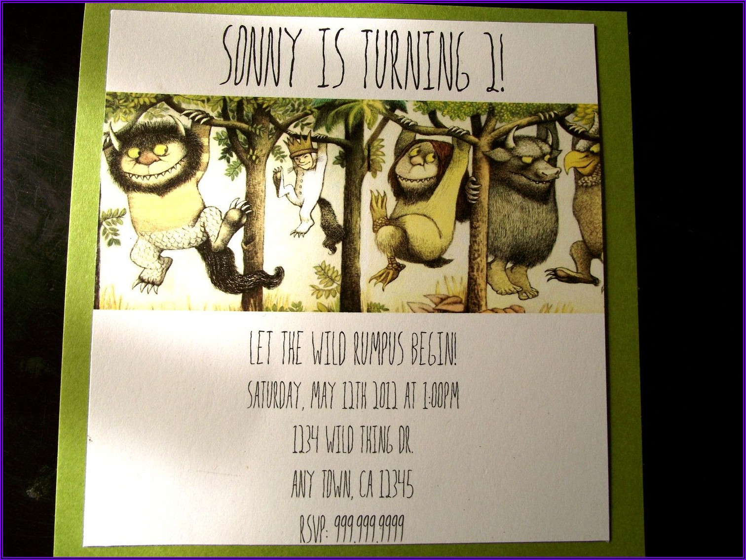 Where The Wild Things Are Birthday Party Invitations