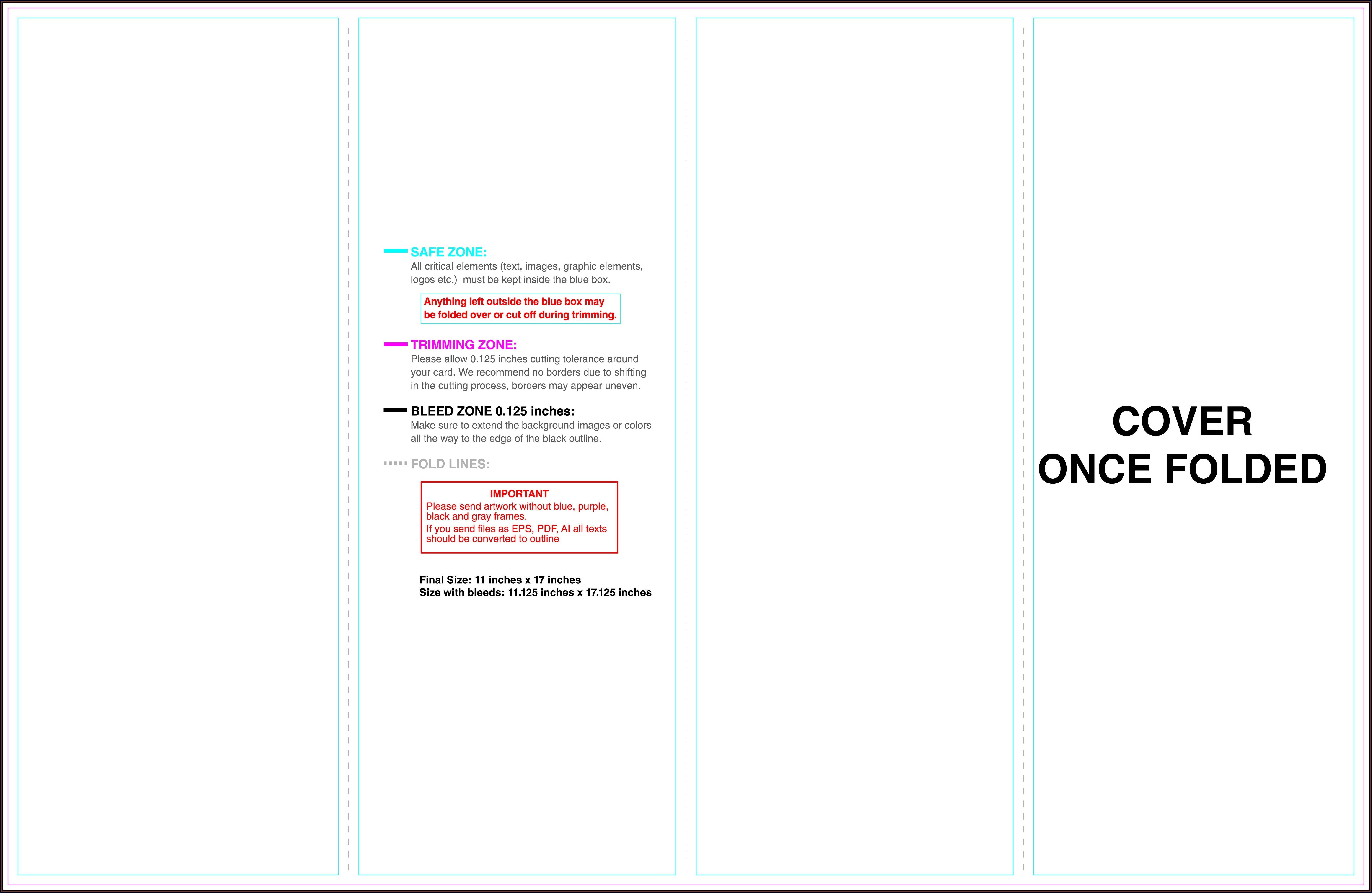 11x17 Half Fold Brochure Template Indesign